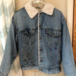 Vintage Levi's jean Sherpa jacket